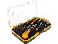 Ratchet & Screwdriver Set 42 pcs - Socket Set, Precision Bits & Adaptor Tool Kit