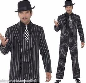 pinstripe suit great for gangster / addams family gomez or jack skellington size L / XL