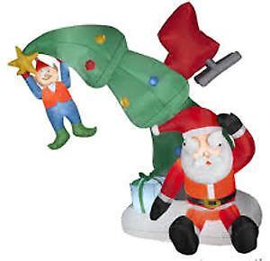 inflatable christmas decorations - Christmas Blow Up Decorations Outside