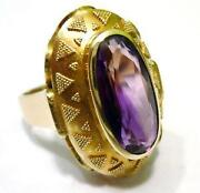 Amethyst Ring Gold