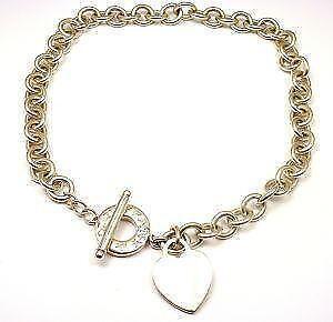 f30f3f9d0 Tiffany Silver Heart Toggle Necklaces