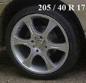 "FOUR 17"" UNIVERSAL RIMS WITH 205/40R17 TIRES FOR SALE"