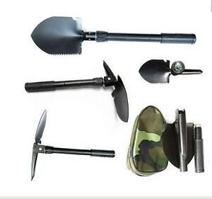 New Military Type Camping Outdoor Folding Snow Shovel Spade w/ Compass Clearance