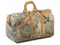 Vintage Duffle Bag by French Luggage - Paradise Print