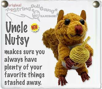 Kamibashi Nutsy The Squirrel The Original String Doll Gang Keychain Clip