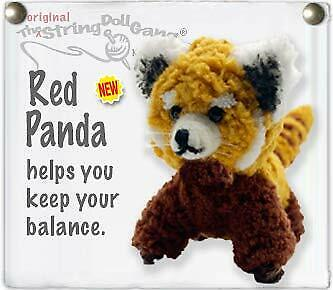 Kamibashi Red Panda Original String Doll Gang Keychain Clip