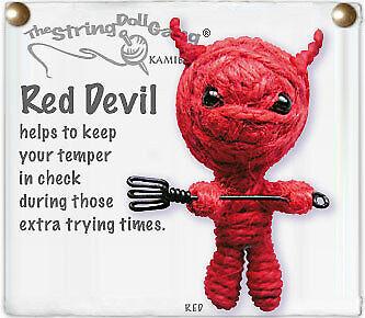 Kamibashi Red Devil The Original String Doll Gang Handmade Keychain Toy & Clip