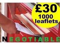 I NEED A JOB! - FROM ONLY £30 PER 1,000 LEAFLETS