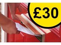 £30 per 1,000 Leaflets   leaflet leaflets leafleting leaflet distribution leaflet distributors flyer