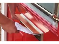 Door to Door Distribution Leafleter looking for work in Croydon,Sutton+Immediate Surrounding Areas
