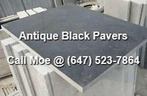 Antique Black Flagstone Pavers Antique Black Paving Stones Lime