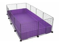 14 section C and C guinea pig cage/run with black correx base