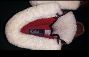 Size 6.5 Polo by Ralph Lauren Ultra Hi Shearling Leather Boots London Ontario image 2