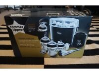 Tommee Tippee Special Edition Electric Steriliser Bottle Warmer Kit Black