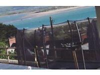 Rectangular plum trampoline ( still under garauntee)
