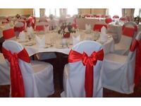 100 white chair cover for weddings parties/ events ONLY CHAIR COVERS