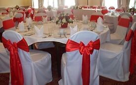 loose white chair cover for party / event 100 pieces