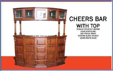 New Timber Bar with LED Light Glass. Rent to Keep Option.