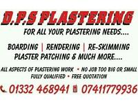 D.P.S plastering **free quote** call today for any plastering work **clean & reliable service