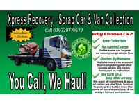 SCRAP car and van collection service