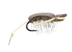 2 FLIES NISWONGER'S NUTRIA RAT SIZE # 4 FLY FISHING MOUSE PATTERN