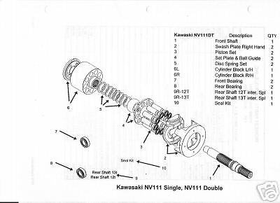 Kawasaki Nv111ds Hydraulic/hydrostatic Disk Springs (4)