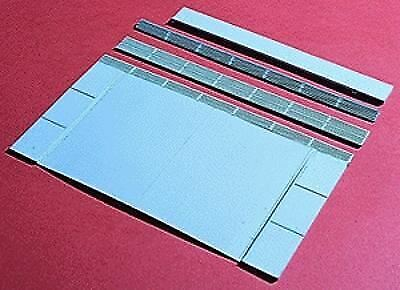 WALTHERS CORNERSTONE HO SCALE GRADE CROSSING RUBBER MAT KIT 933-3137