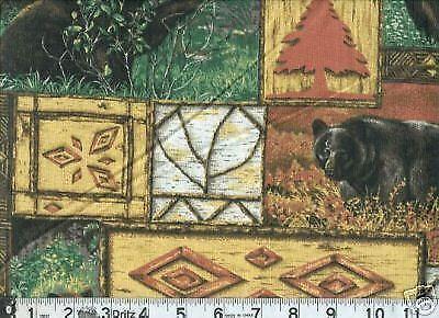 Black Bear Fabric Ebay