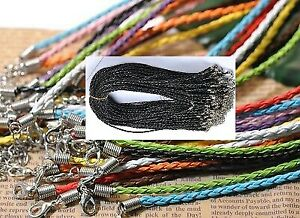 NEW 19 INCH LEATHER NECKLACES    TOP QUALITY      25 CENTS EACH