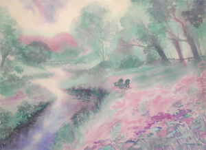 "JENNIFER CLINE WATERCOLOUR - ""MISTY RIVER"""