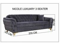 AFFORDABLE BEAUTY 💕NICOLE LUXUARY 3-SEATER SOFA AVAILABLE SALE PRICE🔥