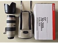 Canon 70-200mm f/2.8 L USM Zoom Lens + Bag + Hood