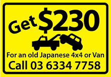 Get Cash 4 cars, vans, utes, FWD and trucks Launceston 7250 Launceston Area Preview
