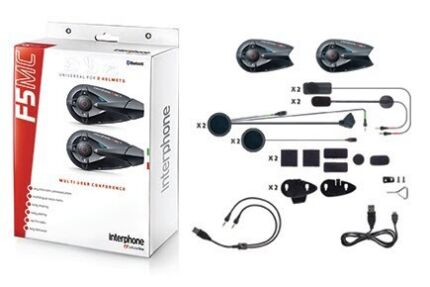 F5MC Twin Pack Interphone Motorcycle Intercom  Kingsgrove Canterbury Area Preview
