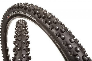 Pair of Schwalbe Ice spiker studded tires 26""