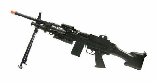 Airsoft Military Machine Gun + Bipod,Glasses,Light  Assault/Rifle/Prop/M16/SAW