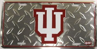 (INDIANA UNIVERSITY METAL LICENSE PLATE IU HOOSIERS L591)