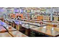 Beech Cantilever Rectangular Office/Home Workstation