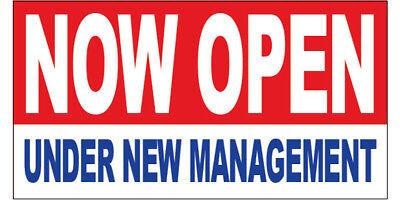 Now Open Under New Management Vinyl Banner Sign New 2x3 Ft - Rb
