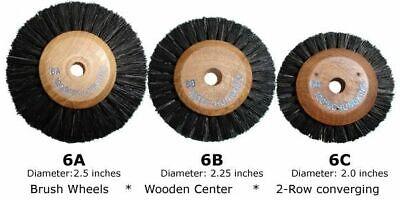 12pcs Or 144pcs Dental Lab Brush Wheels Wooden Center 3 Sizes Cleaningpolishing