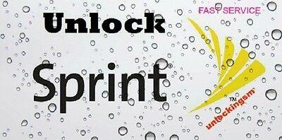 REMOTE UNLOCK SERVICE Sprint Samsung S7 Edge S7 S6 Edge S6 Note 5 (6.0.1) FAST