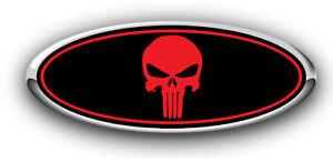 home ford emblem overlay black red writing vinyl emblem overlay ford