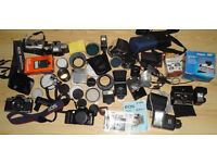 Job Lot of Film and Some Digital Cameras and Accessories. Lots of Filters, Flash units too.