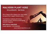 Malvern Plant Hire & Groundwork Servives
