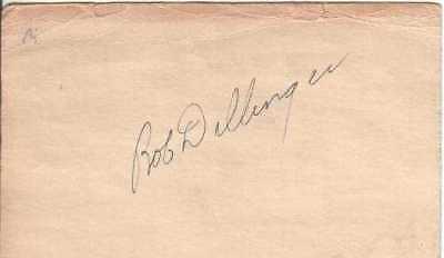 Bob Dillinger Autographed 1950 Government Postcard Pirates D.09