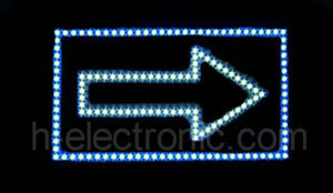 led schild neon leuchtreklame pfeil schilder blinken beleuchten open ebay. Black Bedroom Furniture Sets. Home Design Ideas