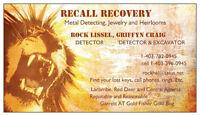 RECALL RECOVERY. THE RING FINDERS. METAL DETECTORS