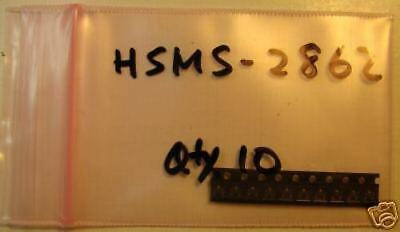 Avago High Frequency Detector Diode Hsms-2862 Dual Sot-23 10pcs
