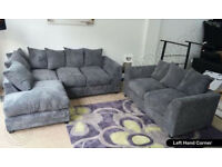 *BRAND NEW* DYLAN FULL CORNER + 2 SEATER SOFA JUMBO *AVAILABLE IN DIFFERENT COLOURS*