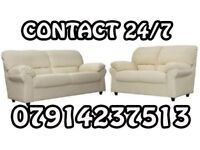 3&2 or Corner Leather Sofa Range Cash On Delivery 35